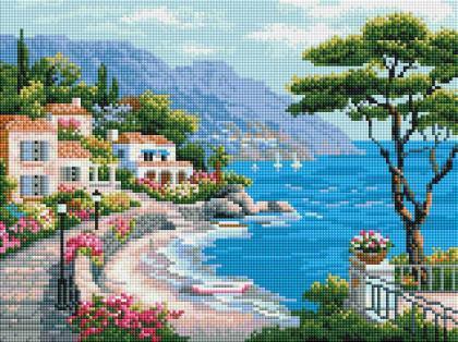 Місто на березі моря ST455 Алмазна мозаїка IF