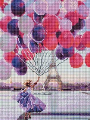 Дівчинка з кульками ST456 Алмазна мозаїка IF