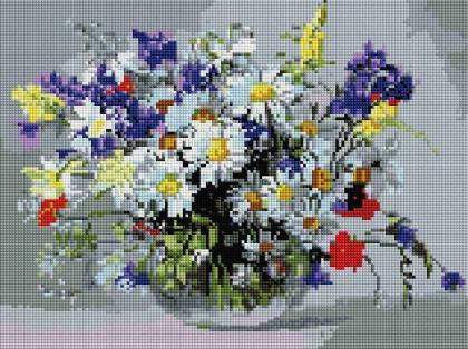 Букет польових квітів ST459 Алмазна мозаїка IF