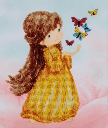 Дівчинка з метеликами