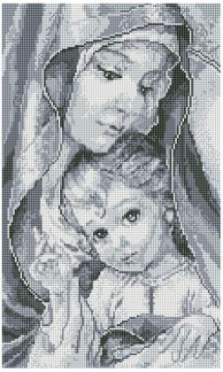 Мадонна з немовлям TP901 Алмазна мозаїка IF