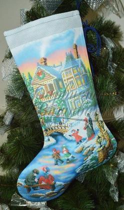 Новорічний чобіток ТР-157 Барвиста вишиванка