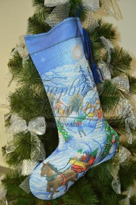 Новорічний чобіток ТР-165 Барвиста вишиванка