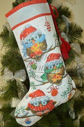 Новорічний чобіток ТР-167 Барвиста вишиванка