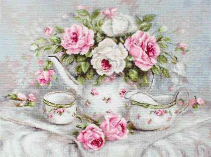 Чайний сервіз та троянди В2317 Luca S