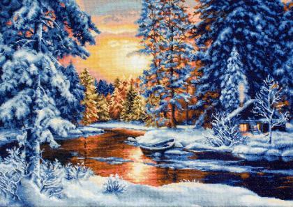 Зимовий пейзаж В477 Luca S