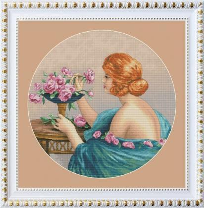 Дівчина з трояндами VN-112 Olanta